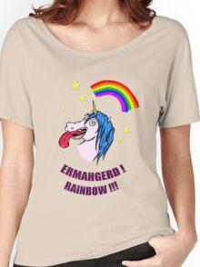 ERMAHGERD RAINBOW! Women's Relaxed Fit T-Shirt