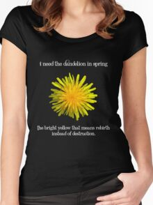 I Need the Dandelion in Spring Women's Fitted Scoop T-Shirt