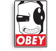 Obey Zim Canvas Print
