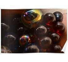 Rainbow Marbles Poster