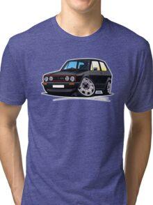 VW Golf GTi (Mk1) Black Tri-blend T-Shirt