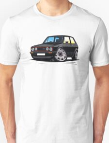 VW Golf GTi (Mk1) Black T-Shirt