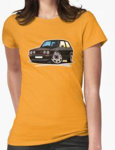 VW Golf GTi (Mk1) Black Womens Fitted T-Shirt