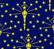 Smartphone Case - State Flag of Indiana - Emblem 1 by Mark Podger