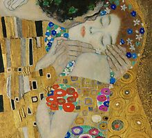 Gustav Klimt - The Kiss (detail) by TilenHrovatic