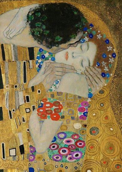 Gustav Klimt - The Kiss (detail) by TilenHrovatic