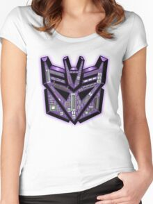TRANSFORMERS: Motherboard Decepticon Women's Fitted Scoop T-Shirt