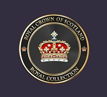 Royal Collection - Crown of Scotland over Blue Velvet Unisex T-Shirt