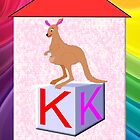 K is for Kangaroo Play Brick by Dennis Melling