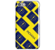 Smartphone Case - State Flag of Indiana - Patchwork Yellow Diagonal iPhone Case/Skin