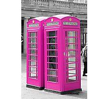 Pink Telephone Box  Photographic Print