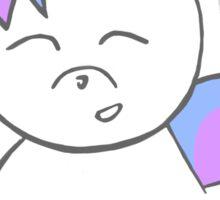 unicorn loves new year's Sticker