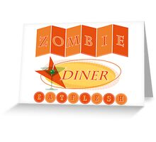 Zombie diner Greeting Card