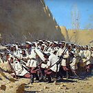 Vasily Vereshchagin - At the city wall by TilenHrovatic