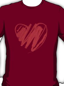 Valentines Crayon Heart T-Shirt