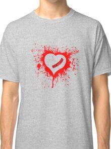 Emo Graffit Heart Valentines Classic T-Shirt