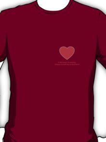 Heart Missing Girls Valentines T-Shirt