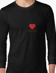 Heart Missing Girls Valentines Long Sleeve T-Shirt