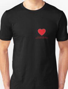 Heart Missing Girls Valentines Unisex T-Shirt