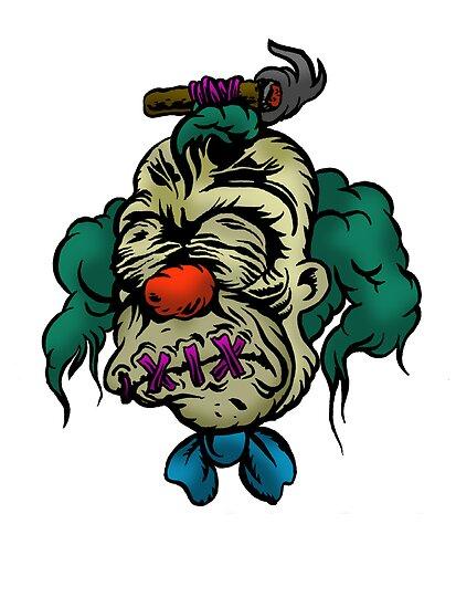 Shrunken Krusty by ghostfreehood