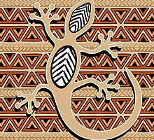 Africa Art Design With Gecko by BluedarkArt