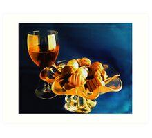Wine and Chocolates Art Print