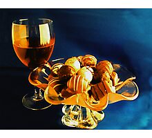 Wine and Chocolates Photographic Print