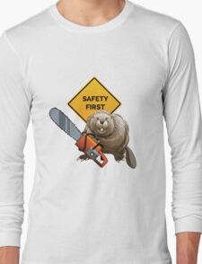 Beaver with a chainsaw Long Sleeve T-Shirt