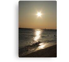 thorpe bay sunset Canvas Print
