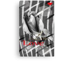 Zebra Printed Love Canvas Print