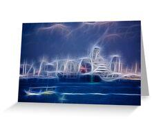 Lightning Midnight Splendor: Greeting Card