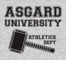 Asgard University - Athletics Department (Light Shirt) by snailkeeper