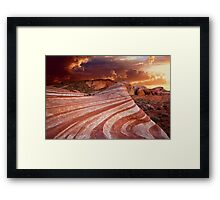 The Fire Wave Framed Print