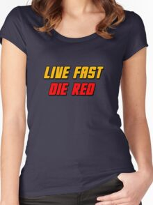 Live Fast Die Red Women's Fitted Scoop T-Shirt