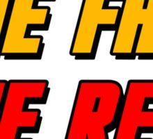 Live Fast Die Red Sticker