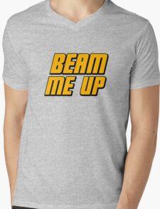 Beam Me Up Mens V-Neck T-Shirt
