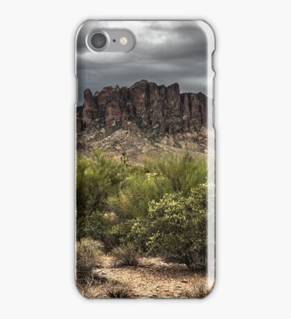 Superstition Mountains - HDR iPhone Case/Skin