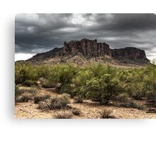 Superstition Mountains - HDR Canvas Print