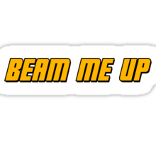 Beam Me Up  Sticker