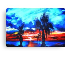 Twilight of Summer's Last Gleaming Canvas Print