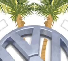 VW Palm Trees Surf Shirt-Sticker Sticker