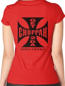 GET 2 DA CHOPPAH (Black) Women's Fitted Scoop T-Shirt
