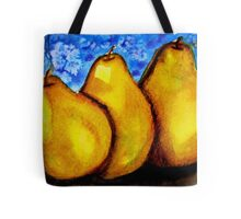 Watercolor and Acrylic Pears Tote Bag