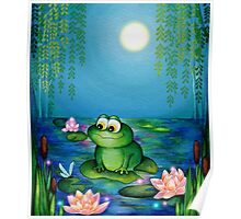 Frog & Lily Pond  Poster