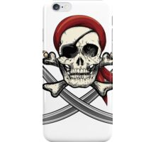 Skull with sabres iPhone Case/Skin