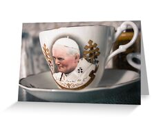 Papal Crockery Greeting Card
