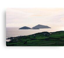 Dusk light over the Kerry Coast Canvas Print