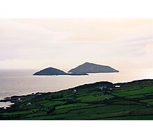 Dusk light over the Kerry Coast Photographic Print