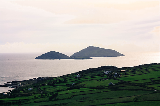 Dusk light over the Kerry Coast by Pauline Mason
