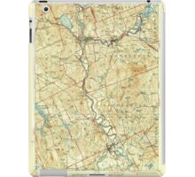 USGS TOPO Map New Hampshire NH Penacook 330286 1927 62500 iPad Case/Skin